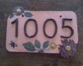 Custom made house address number plaques.