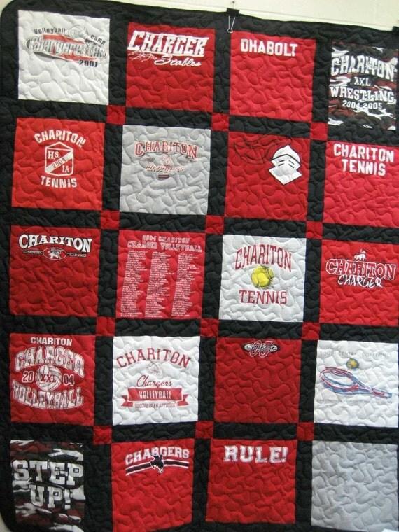 items similar to custom tshirt quilt on etsy