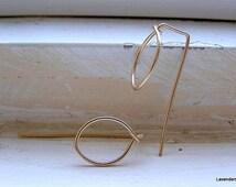 Zen Earrings , Gold  Leaf Earrings , Modern ,  Minimalist jewelry