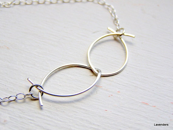 Infinity Necklace , Hammered Sterling Silver , Modern Minimalist , Everyday necklace , Infinity jewelry