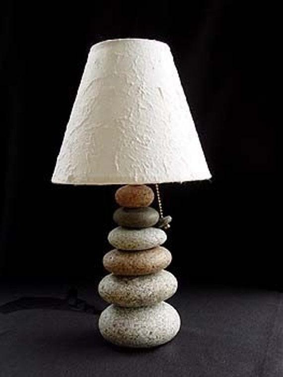 Maine Cairn Rock Lamp