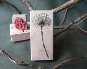 Dandelion rubber stamp from oldislandstamps