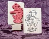 Christmas Boomer rubber stamp from oldislandstamps