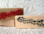 Choo choo toy train rubber stamp from oldislandstamps