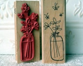 Butterfly Jar rubber stamp from oldislandstamps