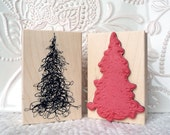 Scribble Tree rubber stamp from oldislandstamps