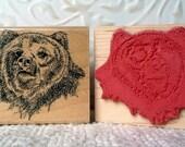 Bear rubber stamp from oldislandstamps