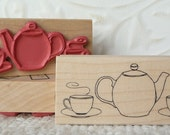 Tea for Two rubber stamp from oldislandstamps