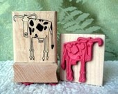 Cow rubber stamp from oldislandstamps