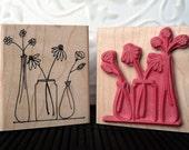 Spring Blooms rubber stamp from oldislandstamps
