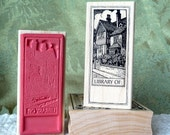 Library of, rubber stamp from oldislandstamps
