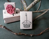 Cupcake rubber stamp from oldislandstamps