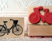 Vintage Girls Bicycle rubber stamp from oldislandstamps
