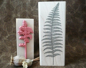 Large Fern rubber stamp from oldislandstamps