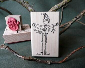 Em's Elf Christmas rubber stamp from oldislandstamps