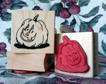 Punk'n Head pumpkin rubber stamp from oldislandstamps