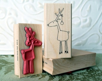 Randy Reindeer rubber stamp from oldislandstamps