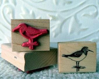 Sandpiper Bird rubber stamp from oldislandstamps