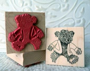 Teddy Bear rubber stamp from oldislandstamps