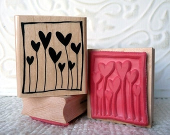 Framed Hearts rubber stamp from oldislandstamps