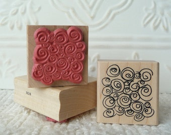 Swirls background rubber stamp from oldislandstamps