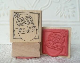 Santa rubber stamp from oldislandstamps