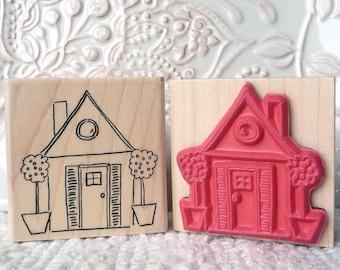Little House rubber stamp from oldislandstamps