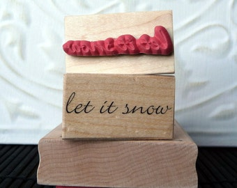 Let it Snow rubber stamp from oldislandstamps