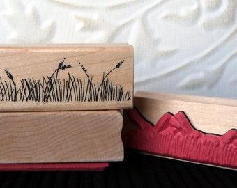 Grass rubber stamp from oldislandstamps