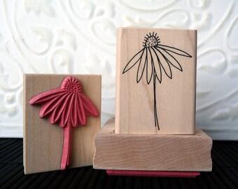 Echinacea Flower rubber stamp from oldislandstamps