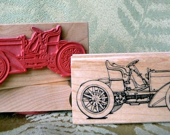 Mercedes Vintage Car rubber stamp from oldislandstamps