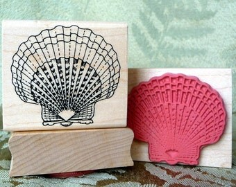 Scallop Shell rubber stamp from oldislandstamps