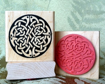 Celtic Circle of Knots rubber stamp from oldislandstamps