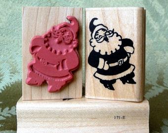 Old Fashioned Santa rubber stamp from oldislandstamps