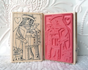 Queen of Hearts Card rubber stamp from oldislandstamps