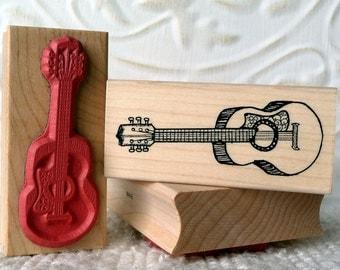 Guitar rubber stamp from oldislandstamps