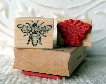 Bee rubber stamp from oldislandstamps