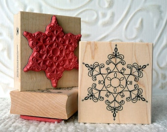 Perfect Snowflake rubber stamp from oldislandstamps