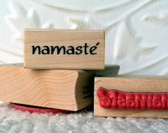 Namaste rubber stamp from oldislandstamps