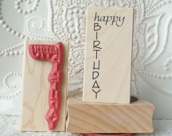 Happy Birthday rubber stamp from oldislandstamps