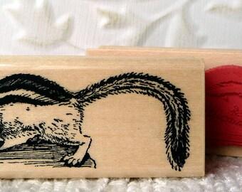 Chipmunk rubber stamp from oldislandstamps
