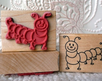 Caterpillar Kids rubber stamp from oldislandstamps
