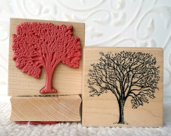 Cherry Tree rubber stamp from oldislandstamps