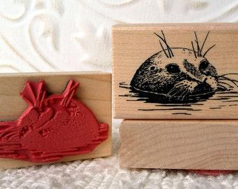 Harbour Seal rubber stamp from oldislandstamps