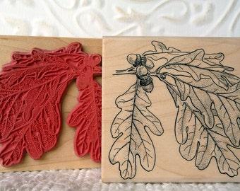 Oak Leaf rubber stamp from oldislandstamps