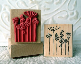 Stick Flowers rubber stamp from oldislandstamps