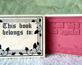 This Book Belongs to rubber stamp from oldislandstamps