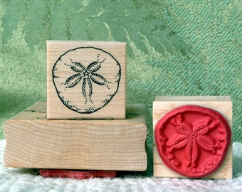 Small Sand Dollar rubber stamp from oldislandstamps