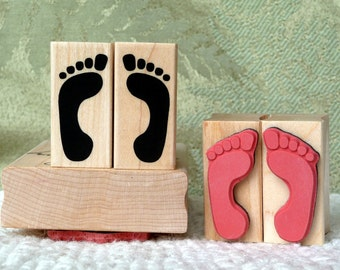 Bare Feet rubber stamps from oldislandstamps