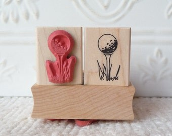 Golf Tee rubber stamp from oldislandstamps